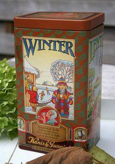 """Vintage Dutch Coffee Storage Tin Box Kanis & Gunnik"""" by PrettyMuchDutch (Etsy)"""