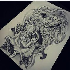 Pin by victor mendoza on ink tattoo drawings, chicano tattoos sleeve, chica Dope Tattoos, Badass Tattoos, Skull Tattoos, Leg Tattoos, Body Art Tattoos, Girl Tattoos, Chicanas Tattoo, Clown Tattoo, Inca Tattoo