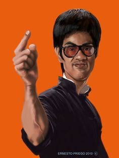 Bruce Lee Showing Off Is A Fools Idea Of Glory Bruce Lee Bruce Lee Photos Caricature