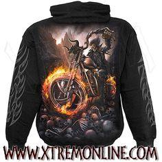 Sudadera con capucha Wheels of Fire ¡Echa un vistazo a nuestra colección de sudaderas heavy metal! Artículos en stock. Envíos inmediatos.