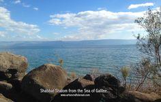 Shabbat Shalom from the Sea of Galilee www.artsncraftsisrael.com