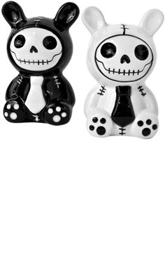 Cute bunny skull salt and pepper shakers. I wonder if Millennium Hawaii has these?