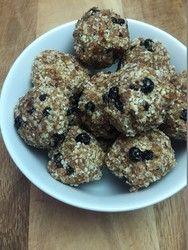 GF Blueberry Coconut Energy Bites