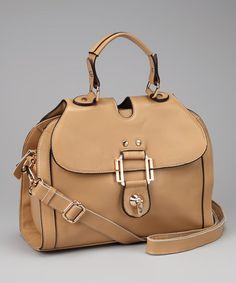 Take a look at this Natural Turnkey Front-Flap Satchel by Adhesion, LLC on #zulily today!