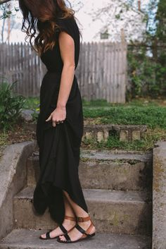 Black maxi for ladies.Click the picture to see more stuff