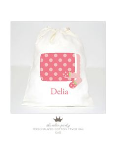 slumber party favor bag personalized by PetiteCadeau on Etsy, $3.50