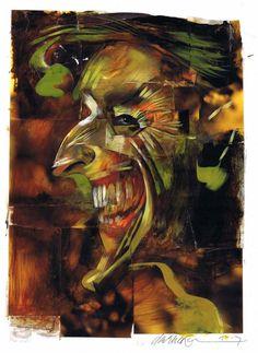 Batman and the Joker by Dave McKean - GeekDraw