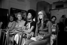 From left: Betty Friedan, Elinor Guggenheimer, Eleanor Holmes Norton and Gloria Steinem, among the founders of the National Women's Political Caucus, in July Credit Don Hogan Charles/The New York Times Gloria Steinem, Feminist Icons, Vogue, Intersectional Feminism, Equal Rights, Before Us, Showgirls, Women In History, Looks Cool