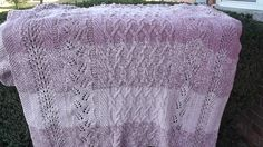 Ravelry: Cables 'n Lace Afghan pattern by Heather Alwood