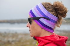 Purple rainbow pannebånd / panneband / headband / pannband