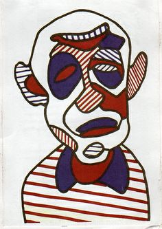 Jean dubuffet's self-portrait
