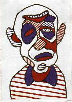 Jean dubuffet's self-portrait
