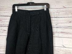 Liz Claiborne Kylie Women's Black Linen Blend Pleated Dress Work Pants Size 4 #LizClaiborne #DressPants #Work