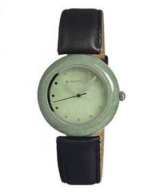I would swap out the strap, but so beautiful. Take a look at this Green Jasper Watch by EARTH watches on #zulily today!