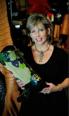 NVOS Artist / Boot maker Terry Courtney Come visit her at Studio #32 this September 21-22 & 28-29 2013 during Napa Valley Open Studios.
