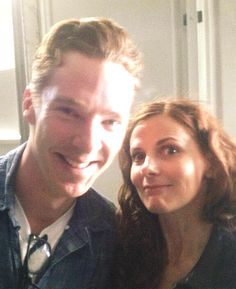 May 2014 ~ Benedict Cumberbatch his SHERLOCK co-star Louise Brealey (who plays Molly) after their wartime love letters reading at Letters Live, at the Hay Festival in Wales, UK. Sherlock Bbc, Benedict Sherlock, Sherlock Fandom, Watson Sherlock, Jim Moriarty, Sherlock Quotes, Louise Brealey, Martin Freeman, Benedict And Martin