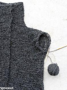 Helppo neuletakki joka vartalolle - katso ohje! Buklee-langasta neulottu takki on ihanan kevyt päällä. Handicraft, Knitting, Sewing, Handmade, Diy, Fashion, Craft, Moda, Dressmaking