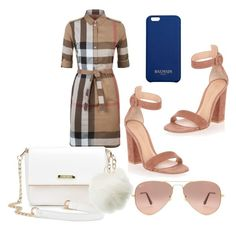 """Untitled #392"" by d-ioana-alexandra on Polyvore featuring Burberry, Gianvito Rossi, Ray-Ban, Charlotte Russe and Balmain"