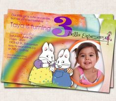 A personal favorite from my Etsy shop https://www.etsy.com/listing/87994303/max-and-ruby-birthday-party-invitation