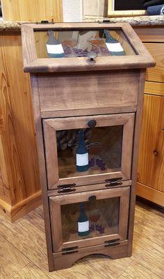 Custom Made Potato Vegetable Storage Bin - Wine & Grapes | Colorful Impressions