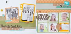 Ready Set Grow! Back to School scrapbook layout from #CTMH #scrapbooking