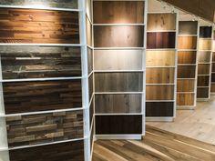Arrigoni Woods Showroom in Minturn, Colorado. Showroom Interior Design, Tile Showroom, Interior Design Companies, Showroom Ideas, Cost Of Wood Flooring, Flooring Shops, Doors And Floors, Bathroom Showrooms, Carpet Shops