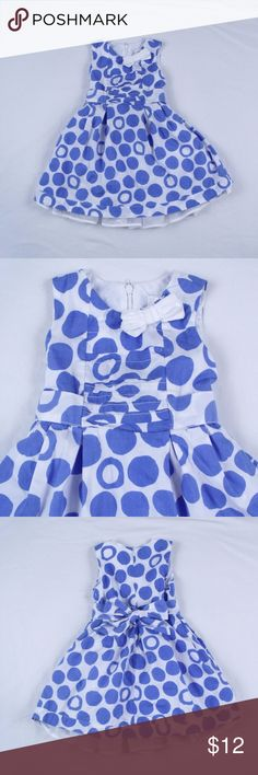 The Children's Place Polka Dot Dress Size: 3T  ~ The Children's Place blue & white polka dot dress.  Dress is lined, zippers in back and ties in back. ~ Shell and Lining 100% Cotton, Mesh 100% Polyester ~ Dress is in nice condition. Children's Place Dresses Casual