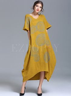 Shop for high quality Casual Loose Comfort Maxi Dress online at cheap prices and discover fashion at Ezpopsy.com