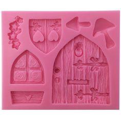 Encantado de Fadas Do Vintage Fada Do Jardim ou Gnome Porta de Casa Resina Artesanato Polymer Clay Silicone Mold Molde para Decoração Do Bolo(China (Mainland))