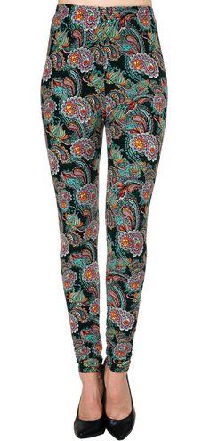 Printed Brushed Leggings - Paisley Amazon  #Leggings #Fashion #VIVCollection #OOTD