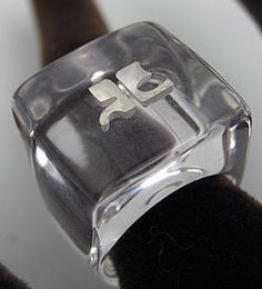 Courrèges - Bague 'Glaçon' - Plexiglas Transparent - Années 60