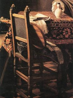 A Lady Drinking and a Gentleman (detail), Johannes Vermeer, ca. 1658