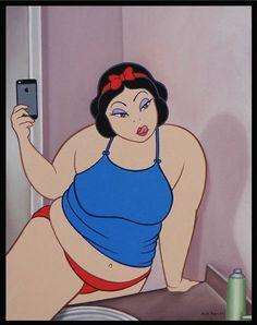 Você nunca viu os personagens Disney assim! Fazendo selfie sexy, fumando maconha... É príncipe casando com príncipe, princesas tomando porre, Cinderela da