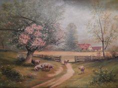 Vintage Signed Oil Painting on Canvas  by GemsOfTimeVintage