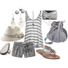 Gray and Stripes, created by ktlizz on Polyvore