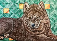 Brown Wolf - Loup Brun | Suzanne Berton's Canadian Art Canadian Art, Wolf, Lion, Prints, Animals, Leo, Animales, Animaux, Wolves