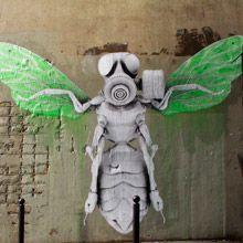 """Conheça os grafites de """"organismos híbridos"""" de Ludo"""