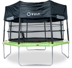 Turn your tr&oline into a c&ing spot. Lay out your sleeping bags for a night in the backyard with a Vuly Deluxe Tent.  sc 1 st  Pinterest & 39 Awesome tent cover for trampoline images | Kids space ...