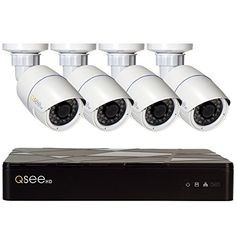 Monitor your home or office area with the help of this Q-SEE IP Indoor or Outdoor Surveillance NVR System with Bullet Cameras. Video Surveillance Cameras, Surveillance Equipment, Security Surveillance, Surveillance System, Best Home Security Camera, Home Security Camera Systems, Gadget World, Home Camera, Bullet Camera