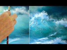 Malen mit Acryl Blaue Welle Painting with acrylic blue wave ocean Acrylic Pour Painting Acryl Acrylic acrylic pour painting for beginners blaue Blue malen mit ocean Painting Wave Welle Acrylic Painting Techniques, Painting Videos, Paint Techniques, Pour Painting, Mural Painting, Ocean Art, Ocean Waves, Beach Mural, Seascape Paintings