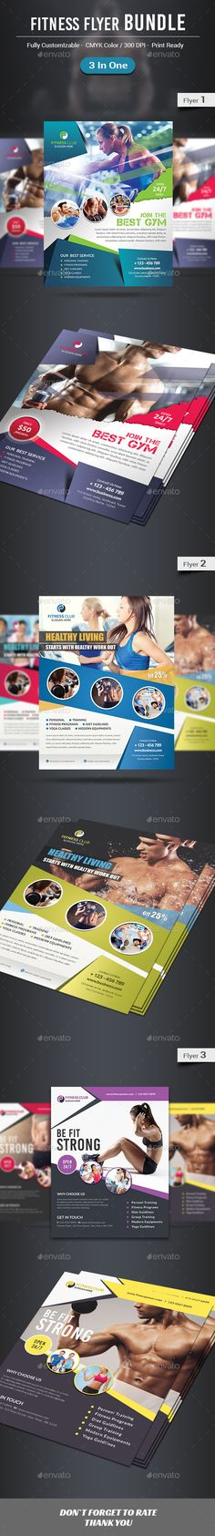 Fitness \/ Gym Flyer Template v2 Flyer template, Gym and Brochures - fitness flyer template
