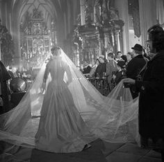 """The Sound of Music"", 1965 ~ behind the scenes: This is the wedding scene when Maria marries Captain Georg Von Trapp in Mondsee Church."