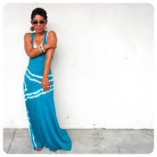 ombre tie dye maxi dress