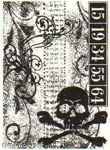 *Tim Holtz Cling Rubber ATC Stamp SKULL Stampers Anonymous