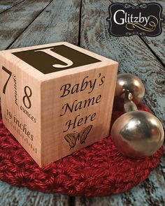 You know someone who would love this! Makes the Perfect Gift! Re-Pin and Share. Enjoy the Birth of your little bundle of joy with family and friends with our unique personalized baby birth announcement. Baby Block Made with sustainable wood, makes the perfect baby gift that they will treasure forever. This fully customizable wooden block allow you to show off your precious newborn with your families.  New Birth Announcement Custom Engraved Wooden Baby Block for infant Boys and Girls -by…