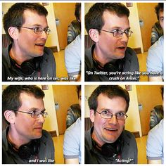 John Green on Ansel Elgort. John green is a fangirl just like us Jhon Green, 4 Panel Life, John Green Books, This Is A Book, The Fault In Our Stars, To Infinity And Beyond, My Guy, Veronica Roth, Laugh Out Loud