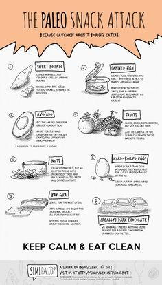 The Paleo Snack Attack info graph, hate reading how some people disagree with eating snacks and going paleo. Paleo On The Go, Paleo Whole 30, How To Eat Paleo, Going Paleo, Paleo Snack, Paleo Food List, Paleo Meal Plan, Paleo Diet Rules, Meal Prep