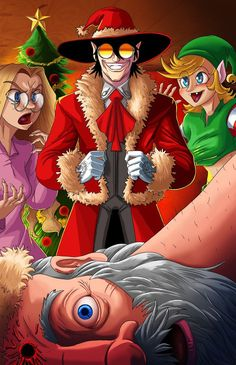 After watching the Hellsing Xmas special so many times I've lost count and loll'ing the whole time I just had to do a fan art. The video this is based on is linked below m.youtube.com/w...