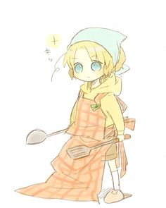 Little Matthew's going to take over the cooking tonight! Art by もりす on Pixiv: http://www.pixiv.net/member_illust.php?mode=medium&illust_id=19900166