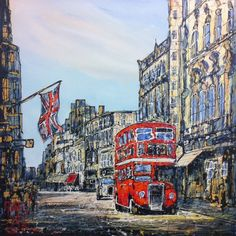 """Nigel Cooke - Flying the Flag  Acrylic on Board 30"""" x 30"""" £850 or 10 monthly interest free payments of £85"""